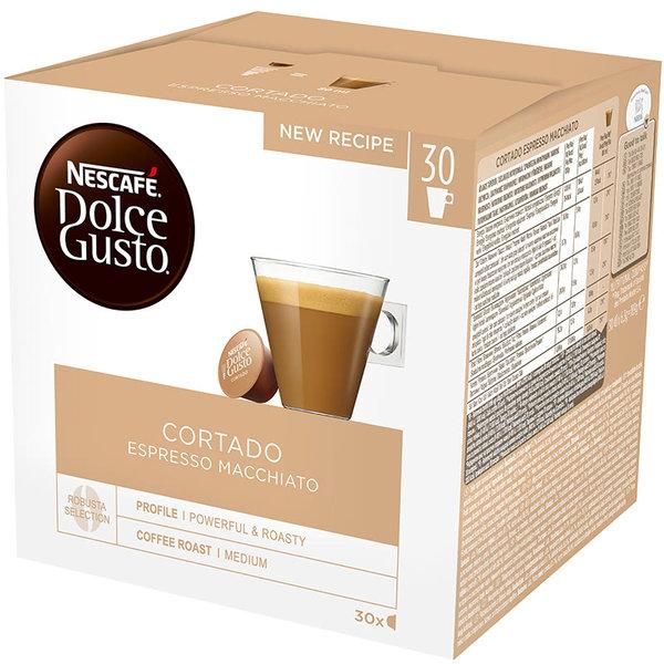 NESCAFE Dolce Gusto Cortado Espresso Macchiato Magnum кафе капсули, 30 напитки