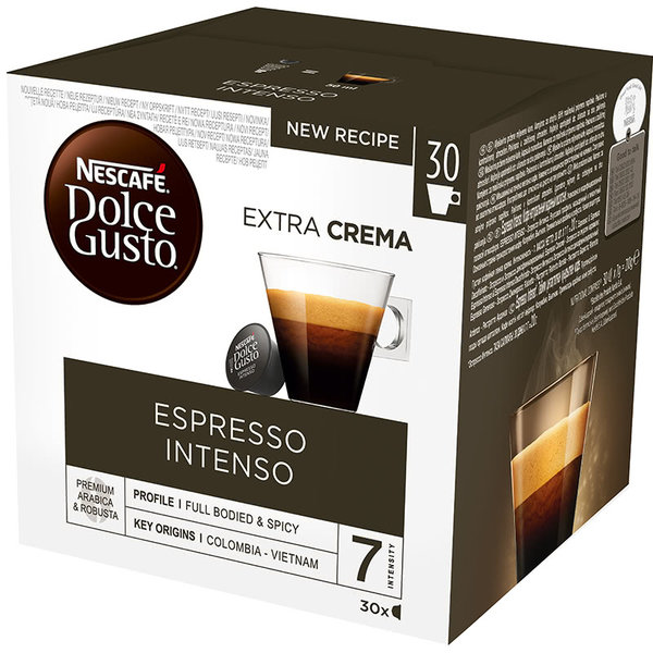 NESCAFE Dolce Gusto Espresso Intenso Magnum кафе капсули, 30 напитки
