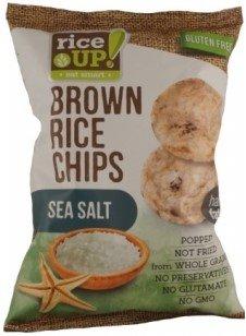 Чипс от кафяв пълнозърнест ориз Rice Up с морска сол 60гр