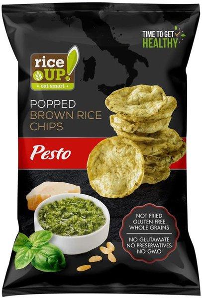 Пълнозърнест оризов чипс Rice Up с кафяв ориз и песто 60гр