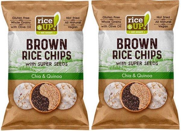Био оризов чипс Rice Up с киноа и чиа 2 х 25 гр.