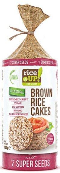 Снакс от кафяв ориз Rice UP! със 7 супер семена 120гр