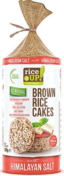 Снакс от кафяв ориз Rice UP! Хималайска сол 120гр