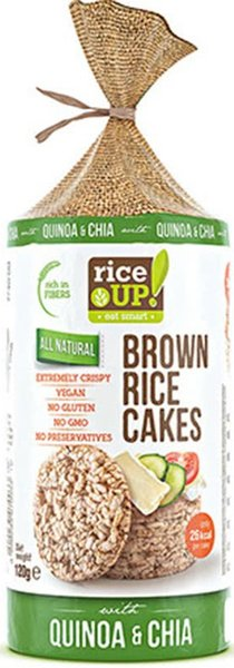 Снакс от кафяв ориз Rice UP! Киноа и чия 120гр