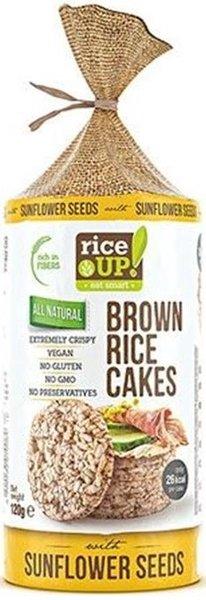 Снакс от кафяв ориз Rice UP! със слънчогледови семена 120гр