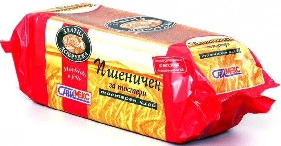 Бял тостерен хляб Златна Добруджа 600гр