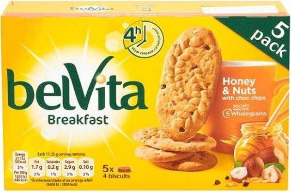 Бисквити с мед и ядки BelVita 225гр