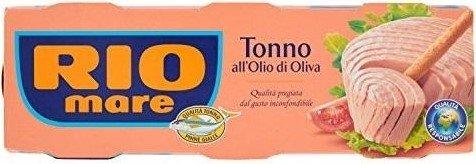 Консерва риба тон в зехтин Rio Mare 3 бр х 80 гр