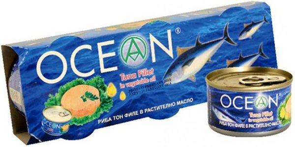 Риба тон филе в растително масло Ocean 3x95гр