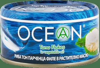 Консерва Риба тон парченца филе Ocean в олио 185гр