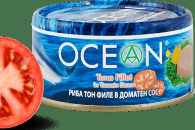Консерва Риба тон филе Ocean в доматен сос 185гр