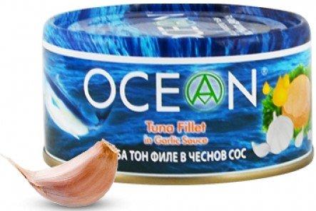 Консерва Риба тон филе Ocean в чеснов сос 185гр