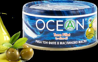 Консерва Риба тон филе Ocean в зехтин 185гр