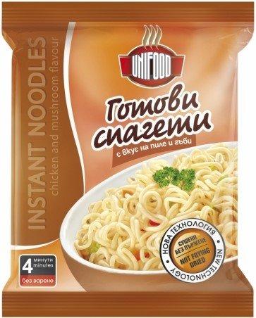 Инстантни спагети - пиле и гъби UniFood 70гр