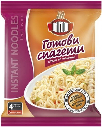 Инстантни спагети - телешко UniFood 70гр
