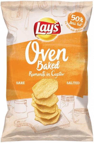 Печен чипс Lays сол 125гр