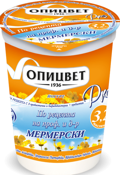 Йогурт Опицвет PRO+ по рецепта на Мермерски 3.2% 400 г