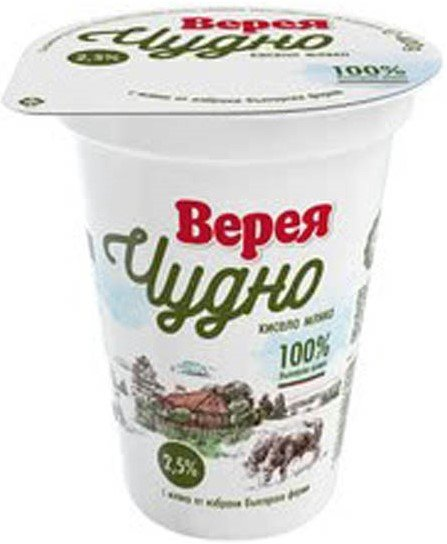 Кисело мляко Верея Чудно 2.5% 400гр