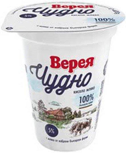 Кисело мляко Верея Чудно 5% 400гр