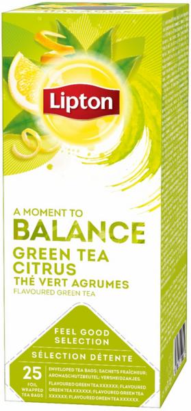 Зелен чай Lipton Balance Citrus 25бр