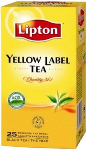 Черен чай Lipton Yellow Label 25бр x 2гр