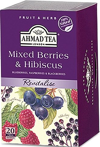 Чай Ahmad Tea Mixed Berries & Hibiscus 20бр х 2гр