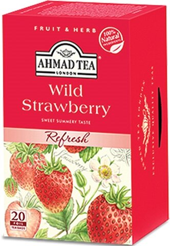 Чай Ahmad Tea Wild Strawberry 20бр х 2гр