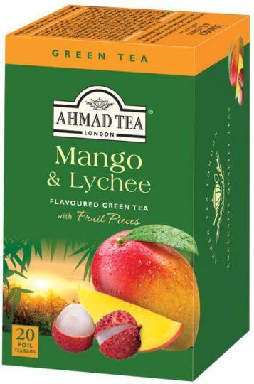 Зелен плодов чай Ahmad Tea Mango & Lychee 20бр.