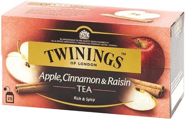 Чай  Twinings черен ябълка, канела и стафиди 25бр х 2гр