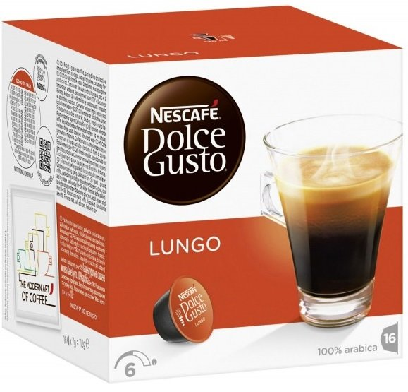 NESCAFE Dolce Gusto Caffe Lungo кафе капсули, 16 напитки