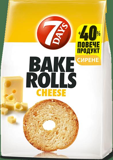 Bake Rolls 7 days със сирене 112гр