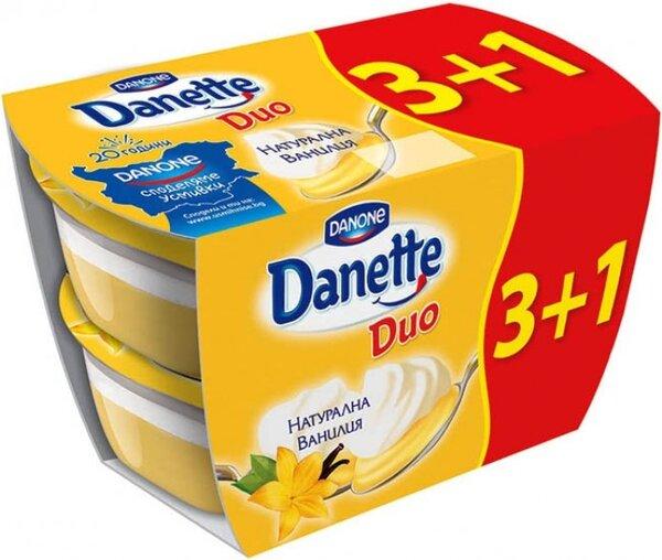 Пакет: Danette Duo Ванилия 4бр x 115 г