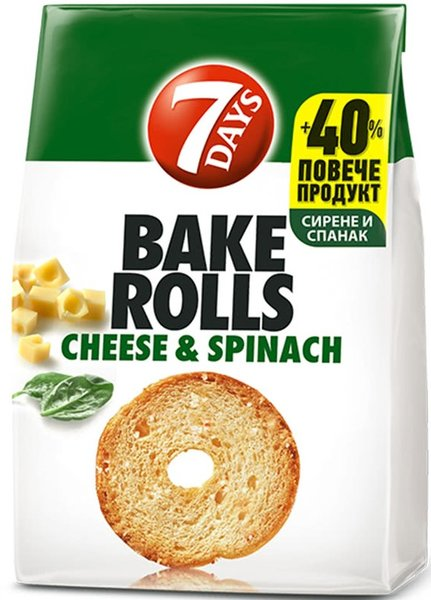Bake Rolls 7 days със сирене и спанак 112гр