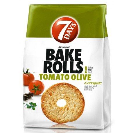 Bake Rolls 7 days с домати, маслини и риган 112гр