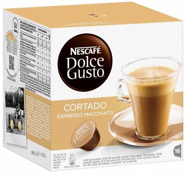 NESCAFE Dolce Gusto Cortado Espresso Macchiato кафе капсули, 16 напитки