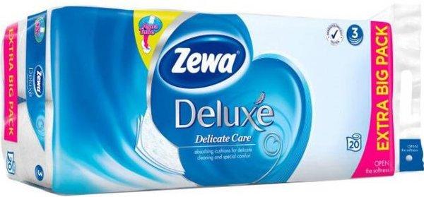 20бр Тоалетна хартия Zewa Deluxe Delicate Care 3пл