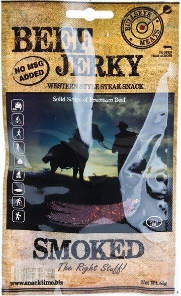 Сушено говеждо месо Smoked Beef Jerky Bullseye Meats 50 г