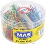 Цветни кламери MAS 280 + 80 бр кутия