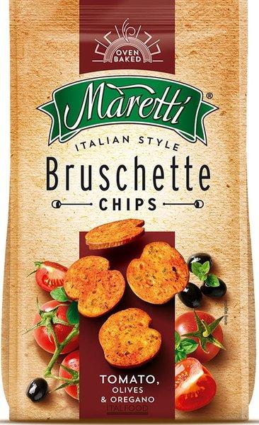 Брускети Maretti с домат, маслини и риган 70гр