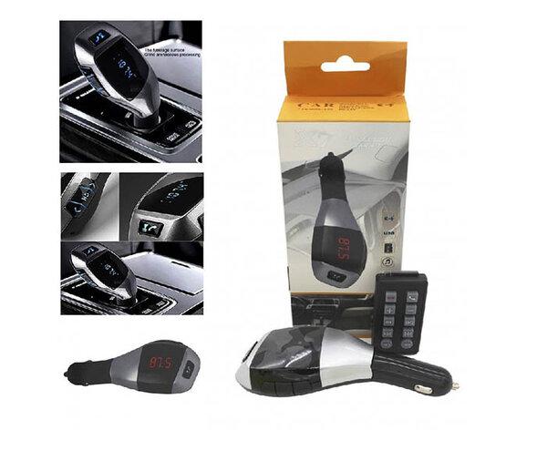 Bluetooth FM трансмитер за автомобил Wireless Car Kit с дистанционно управление