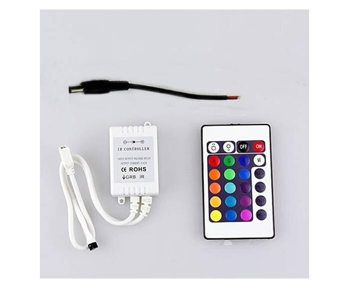 Комплект RGB LED лента 5 метра, диод 2835, с управление на цветове и захранване