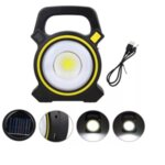 LED COB преносима соларна работна лампа/фенер