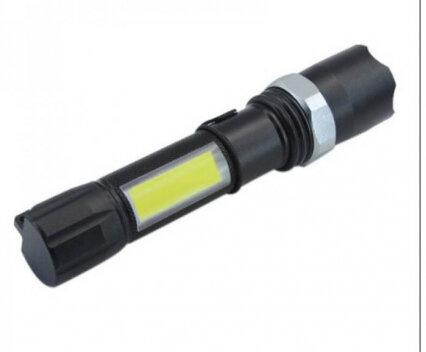 Мини LED фенер с акумулаторна батерия и зареждане чрез Micro USB кабел.