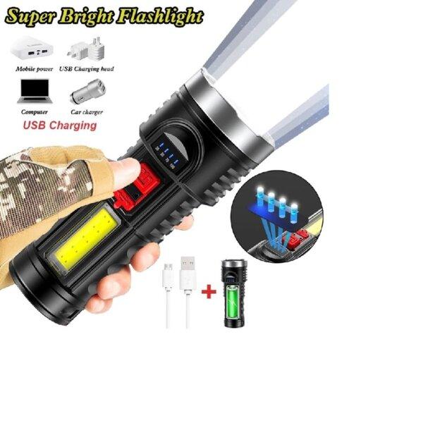 Олекотен акумулаторен LED фенер + COB