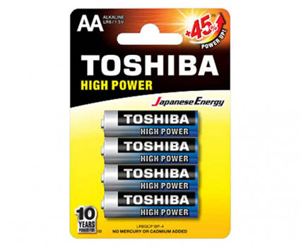 Алкални батерии Toshiba AA 4 бр