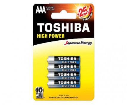 Алкални батерии TOSHIBA AAA 4 бр.