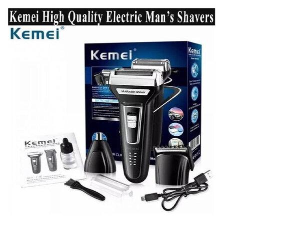 Безжична машинка за бръснене и подстригване 3 в 1