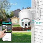 Камера за наблюдение,  Waterproof, WiFi, Full HD, 1080p, цветно и нощно виждане