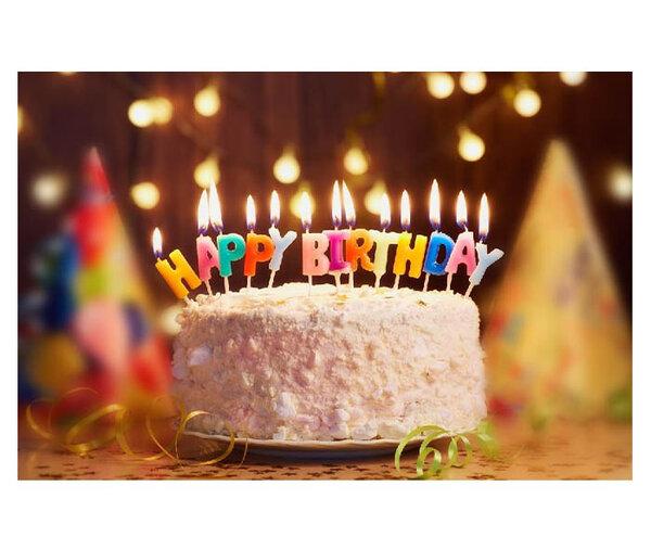 Многоцветни свещички за торта Happy Birthday