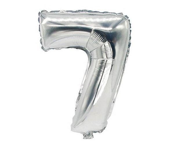 """Сребрист парти балон - цифра """"7"""""""